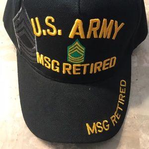 US Army MSG Retired Cap, Black